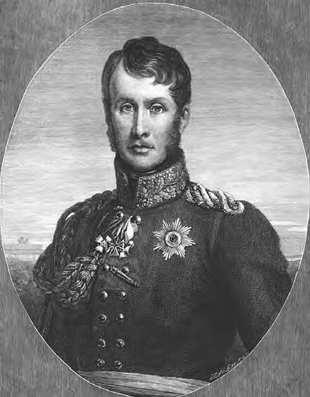 Lenient and slow to recognize the growing French threat, Frederick's restrained entry into the war in 1806 ended in defeat and humiliation for Prussia. Frederick William III of Prussia.jpg