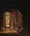 Frederik Christian Lund - Italiensk gadeparti med personer - 1862.png