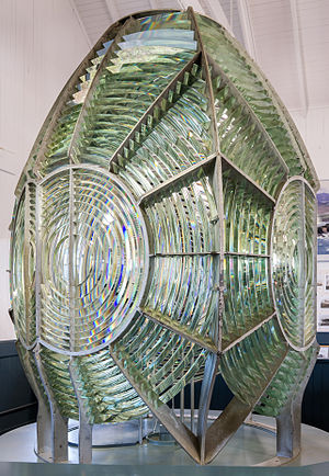 Augustin-Jean Fresnel - First-order lighthouse Fresnel lens, on display at the Point Arena Lighthouse Museum, Point Arena Lighthouse, Mendocino County, California