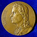 Friedrich Schiller, German Poet and Surgeon 100th Death Anniversary, Art Nouveau Medal 1905 by A.M. Wolff, reverse.jpg