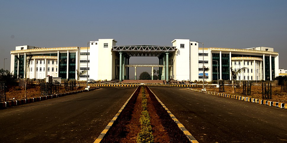 Front view of administrative building of IIT Patna