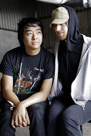 Fuck Buttons - Fuck Buttons members Andrew Hung (left) and Benjamin John Power (right) in 2007