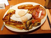 A Full Ulster Fry Served In Belfast