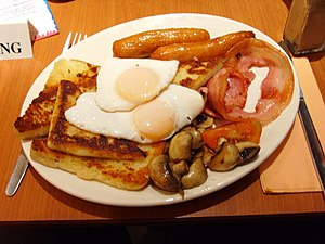 Full breakfast - A full Ulster fry served in Belfast, Northern Ireland