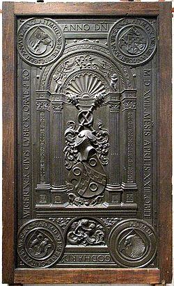 Epitaffio per gotthard wigerinck , peter vischer il vecchio , 1518