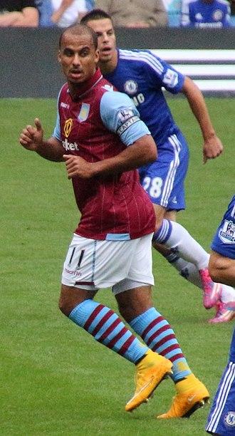 Gabriel Agbonlahor - Agbonlahor playing for Aston Villa in 2014