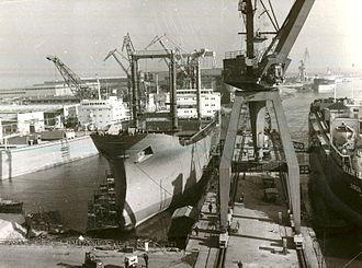 Galați shipyard - Image: Galati 1978