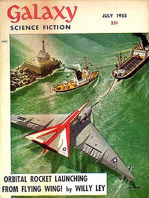 Willy Ley - One of Ley's regular science columns took the cover of the July 1955 issue of Galaxy
