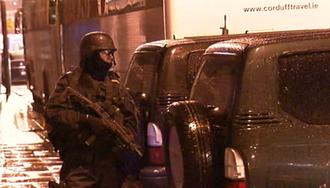 Special Detective Unit - A member of the elite Garda ERU on armed patrol in Dublin