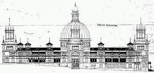 Garden palace sydney; sebuah lukisan arsitektur tahun 1870-an