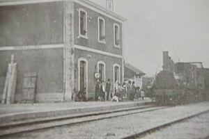 Miranda do Corvo - A turn of the century view of the train station in Miranda do Corvo