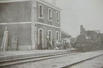 Miranda do Corvo - A turn of the century view of the train station in Miranda do Corvo