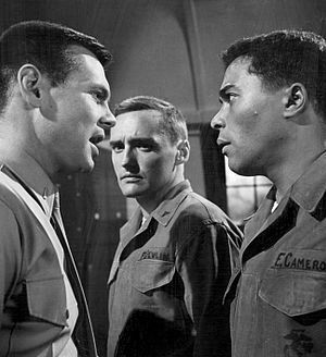 "To Set It Right - Publicity photo for ""To Set It Right"", featuring Gary Lockwood, Dennis Hopper and Don Marshall"