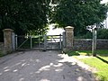 Gates at entrance drive to Foxcote House - geograph.org.uk - 1924402.jpg