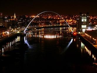 Gateshead Millennium Bridge - Image: Gateshead Millennium Bridge, Front
