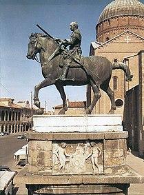 Estatua ecuestre de Donatello Gattamelata en Padua