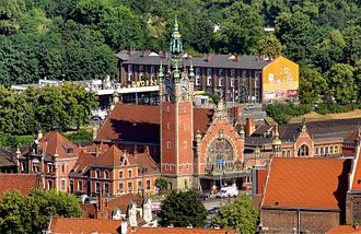 Gdańsk Główny railway station - Gdańsk Główny Aerial view