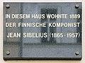 Gedenktafel Marienstr 4 (Mitte) Jean Sibelius.jpg