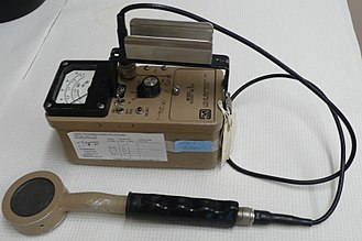 Geiger counter - G-M counter with pancake type probe