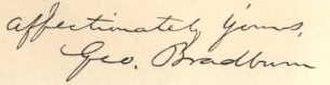 George Bradburn - Image: George Bradburn Signature