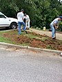 Georgia Native Plant Society planting butterfly garden in Heritage Park, Mableton, Cobb County, Sept 2015 06.jpg