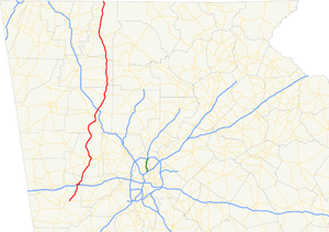 Georgia State Route 61 - Image: Georgia state route 61 map