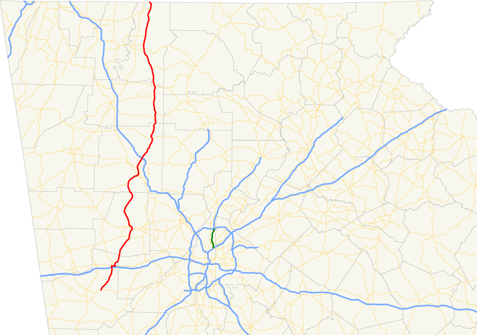 Georgia state route 61 map