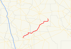 Georgia State Route 64 - Image: Georgia state route 64 map