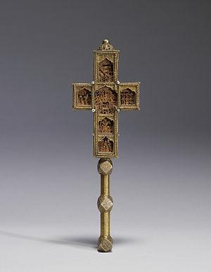 Domentius IV of Georgia - A benediction cross of Domentius IV (Walters Art Museum).