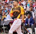 Giancarlo Stanton competes in semis of '16 T-Mobile -HRDerby. (28574679375).jpg
