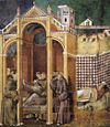 Giotto di Bondone - Legend of St Francis - 21. Apparition to Fra Agostino and to Bishop Guido of Arezzo - WGA09147.jpg