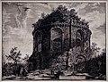 Giovan battista piranesi, veduta del cosiddetto tempio della tosse, presso tivoli, 1763.jpg