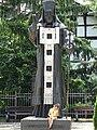 Girl with Statue - Vratsa - Bulgaria (29078970518).jpg