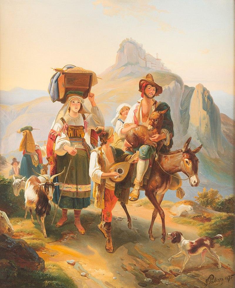 Giuseppe Palizzi Hirtenfamilie in den Abruzzen 1875.jpg