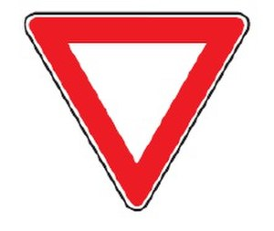 Road signs in Bosnia and Herzegovina - Image: Give way