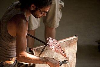 WheatonArts - Image: Glassblower