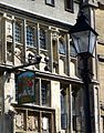 Glastonebury - The George Pilgrim´s Hotel, Inn sign, arms.jpg