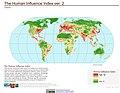 Global The Human Influence Index, version 2 (5457432045).jpg