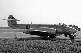 Robin Olds - RAF Gloster Meteor.