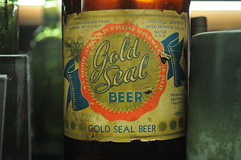 English: Label, Gold Seal Beer, Apex Brewing C...