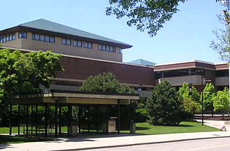 University of Wisconsin-Milwaukee Libraries - Golda Meir Library seen from Hartford Avenue