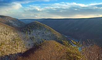 Golden Eagle Trail - Raven's Horn Vista, Tiadaghton State Forest, Lycoming County, along the Golden Eagle Trail.