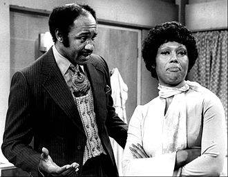 J. A. Preston - Preston as Walter Ingles with his girlfriend (played by Ja'net Dubois) on Good Times circa 1976.