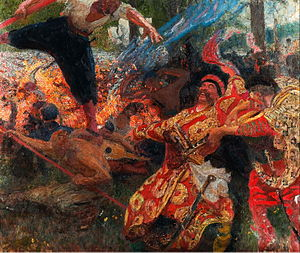 Hopak - Hopak (a late, unfinished painting by Ilya Repin)