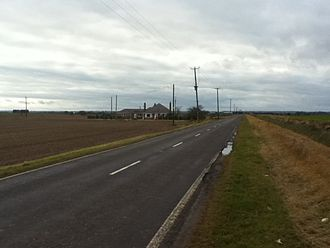 The rural B1397 in Gosberton Fen heading out towards the Bourne area Gosberton Fen.JPG
