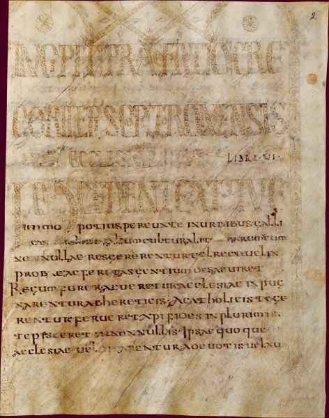 Grégoire de Tours, Histoire des Francs, livres 1 à 6, page de frontispice