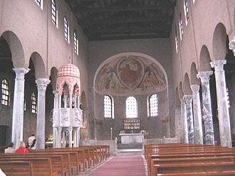 Grado, Friuli-Venezia Giulia - Interior of the Basilica of Sant'Eufemia, Grado.
