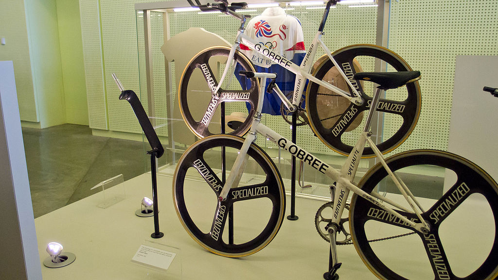 Graeme Obree display at the Riverside Museum