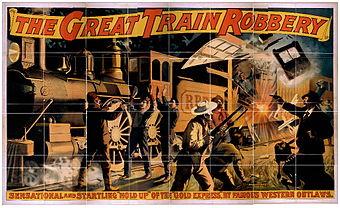 """Filmplakat von """"Der große Eisenbahnraub"""""""