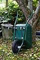 Green wheel barrow at Nuthurst West Sussex England.jpg